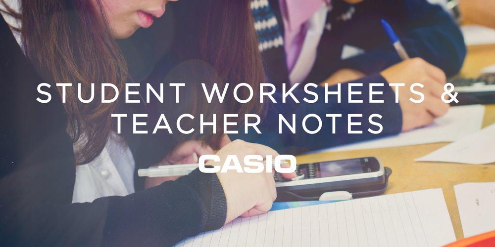 Casio Student Teacher Worksheets Picture