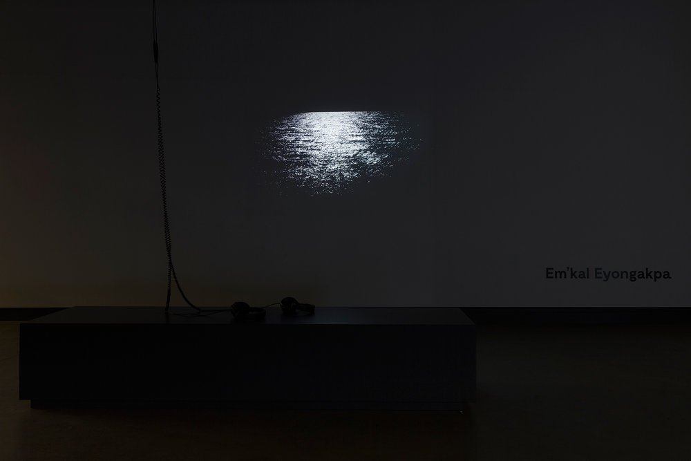 © Em'kal Eyongakpa, exhibition view of Letters from Etokobarek 1-i(201-), presented in the context of BNLMTL 2016 –The Grand Balcony. Photo: Marilou Crispin.