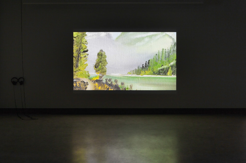 © Jo-Anne Balcaen, Mount Rundle (2014). Exhibition view. Photo: Marilou Crispin.