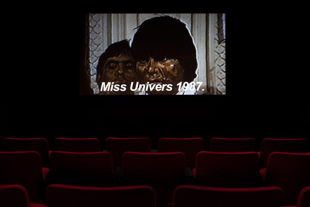 © Eduardo Menz, Las Mujeres des Pinochet (Les femmes de Pinochet) (2005). Exhibition view. Photo: Marilou Crispin.