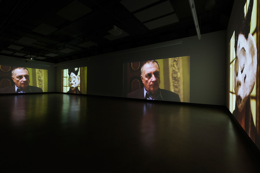 © Nicolas Klotz &Elisabeth Perceval,  Je sais courir mais je ne sais pas m'enfuir (2014). Exhibition view. Photo: Marilou Crispin.