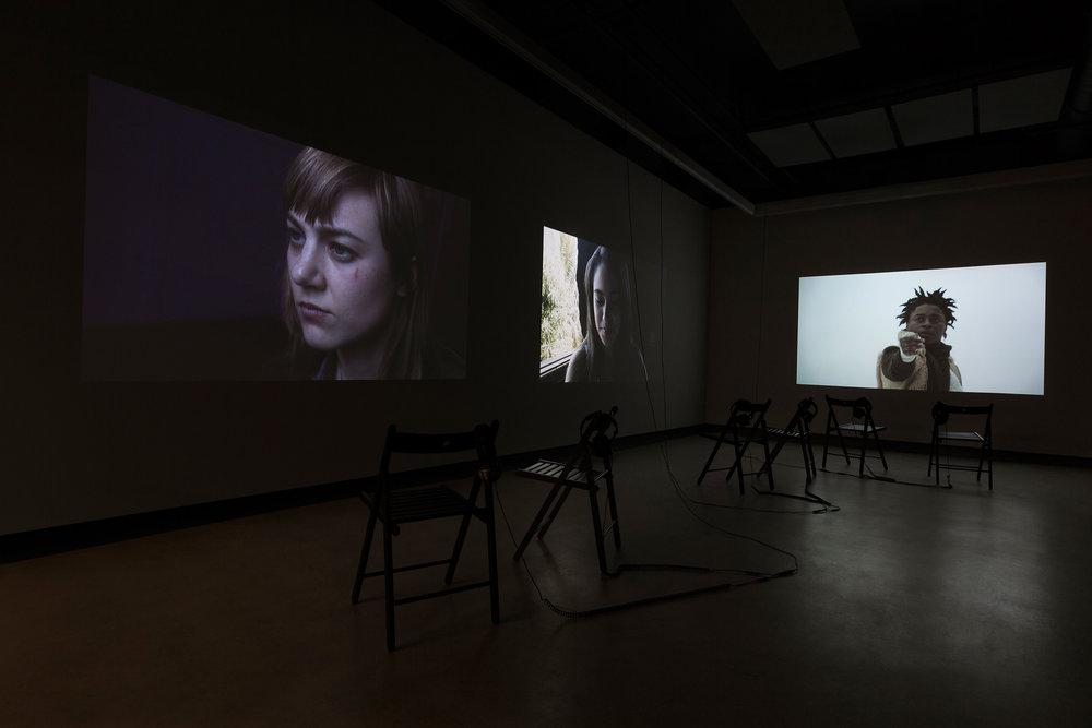 © Nicolas Klotz &Elisabeth Perceval, Luciles(2013-2017). Exhibition view. Photo: Marilou Crispin.