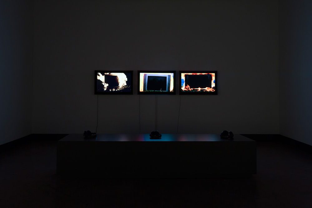 © Nicolas Klotz &Elisabeth Perceval,  Nous ne figurons pas dans le paysage (2013). Exhibition view. Photo: Marilou Crispin.