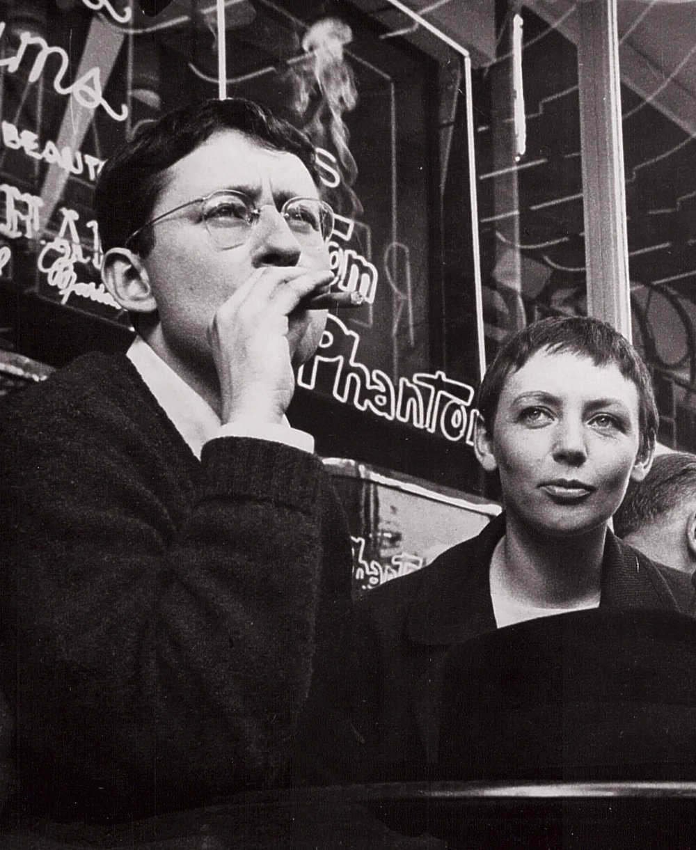 Photograph of Guy Debord and Michèle Bernstein.
