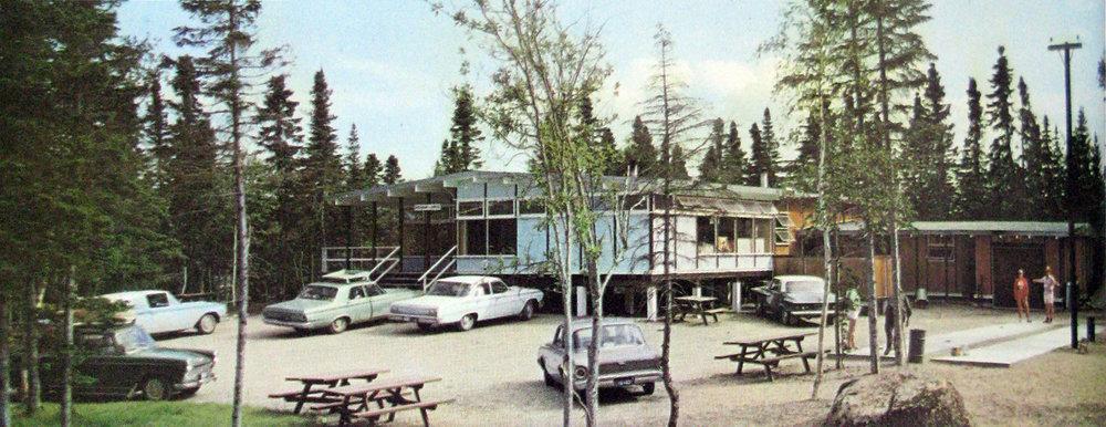 © Restaurant Pavilion, Terra Nova National Park, c. 1960,  Newfoundland: Canada's Happy Province  (St. John's: Government of Newfoundland and Labrador, 1966).
