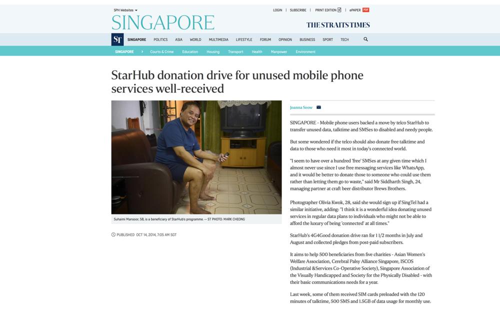 4G4Good Straits Times