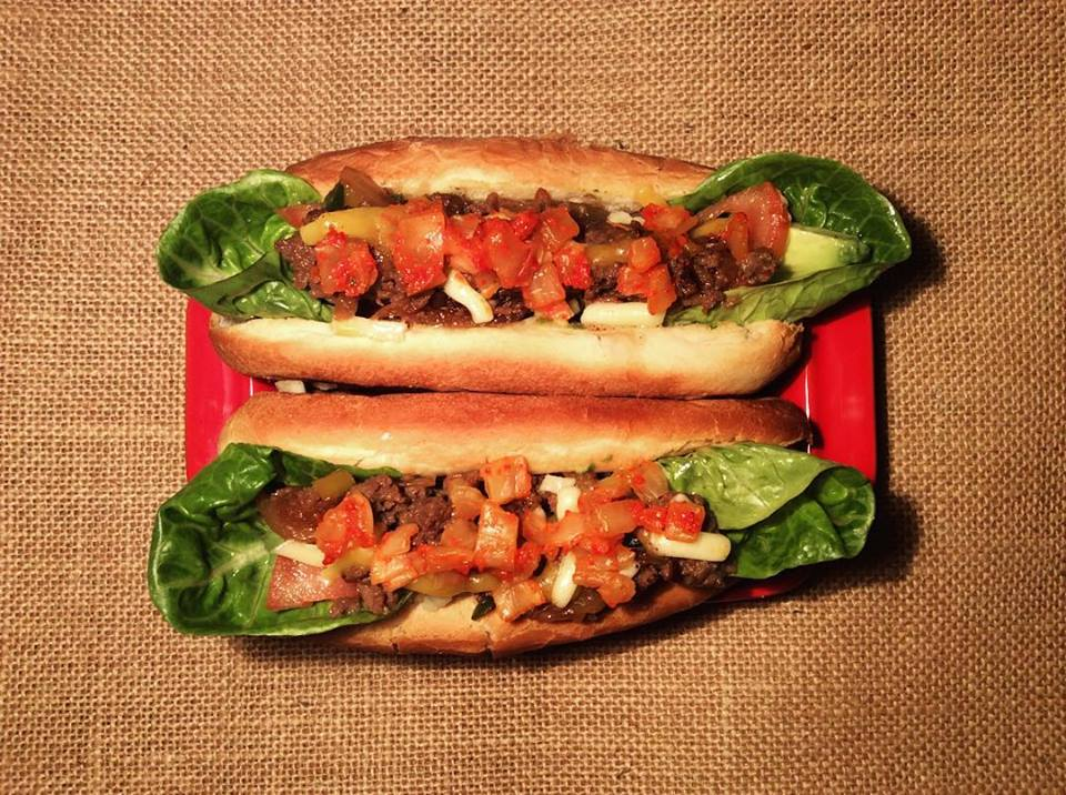 Kimchi hotdog with bulgogi, caramelised onion, cheddar, avocado and gem lettuce.jpg
