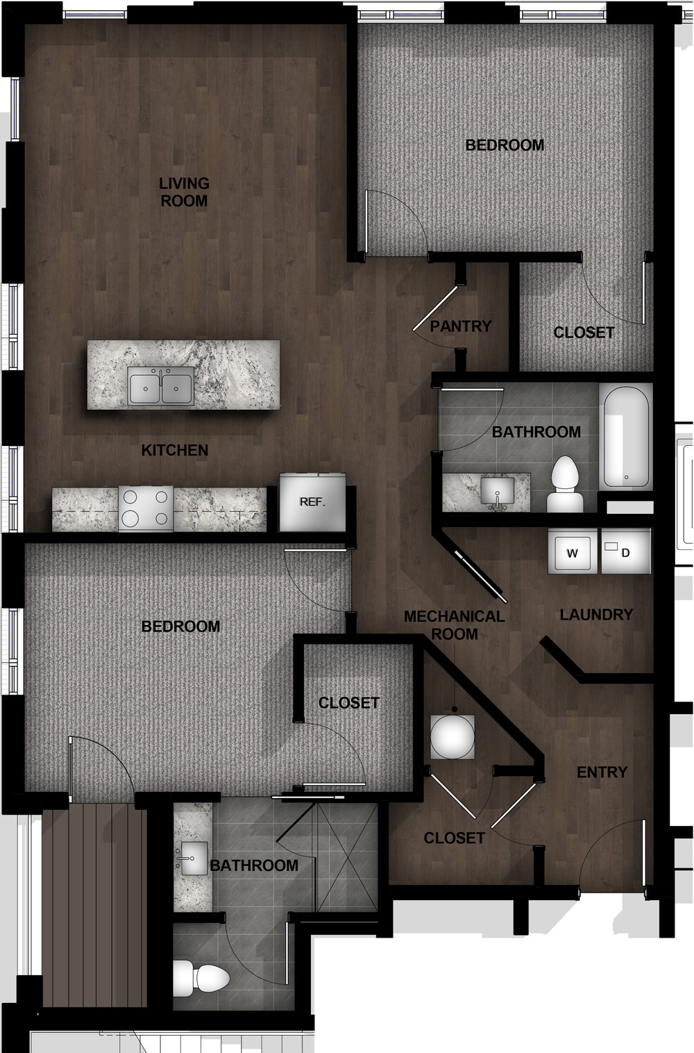 2 Bedroom | Layout B3