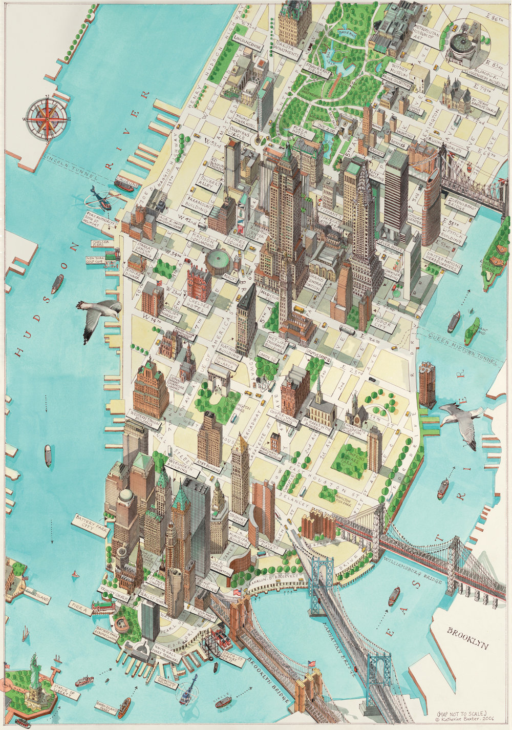 Katherine Baxter | Illustrated Maps-New York