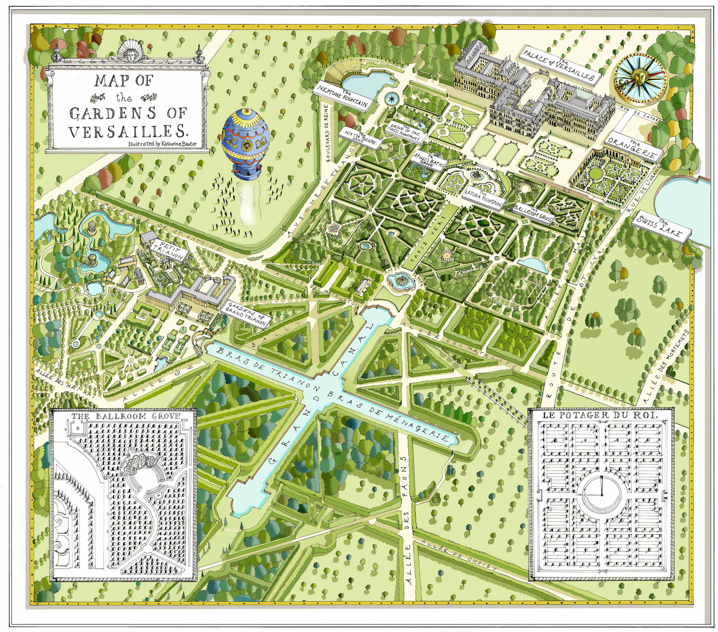 katherine baxter illustrated maps versailles