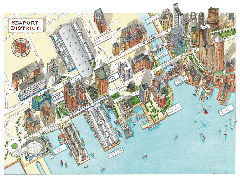 Katherine Baxter | Illustrated Maps-Boston