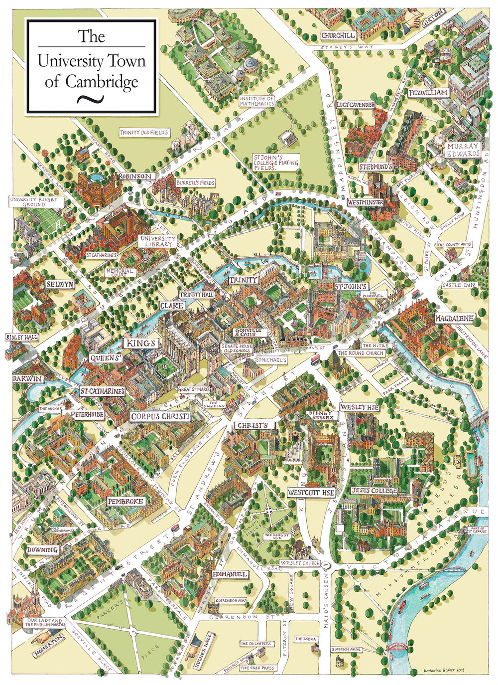 Katherine Baxter | Illustrated Maps-Cambridge University on