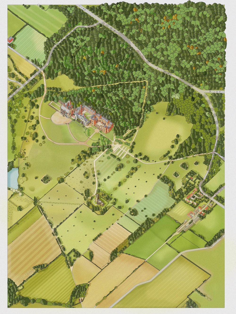 National Trust Map Katherine Baxter | Illustrated Maps National Trust National Trust Map