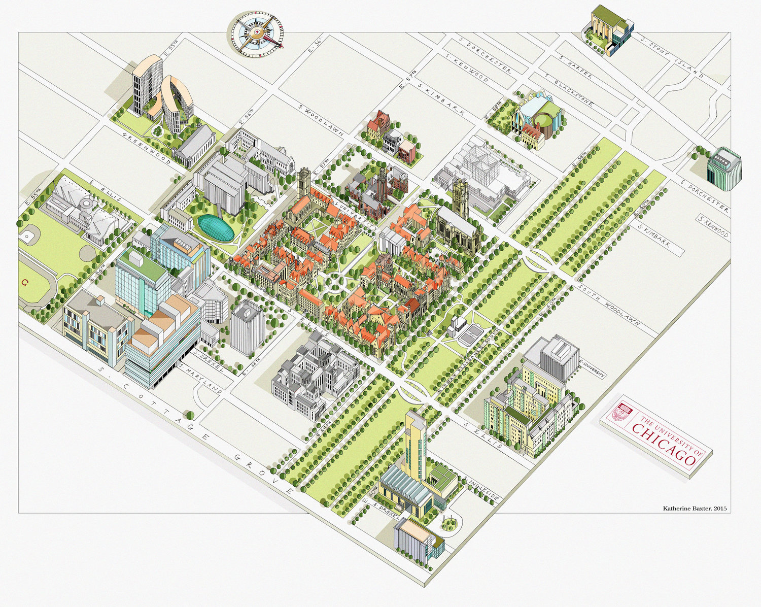 Katherine Baxter | Illustrated Maps Chicago University
