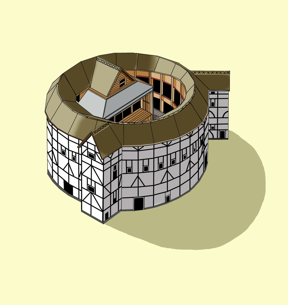 The Globe Theatre  Illustration by Katherine Baxter
