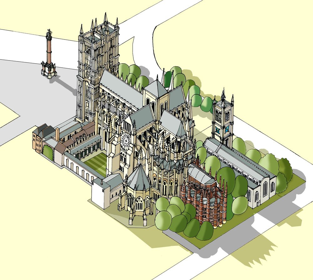 Westminster Abbey  Illustration by Katherine Baxter