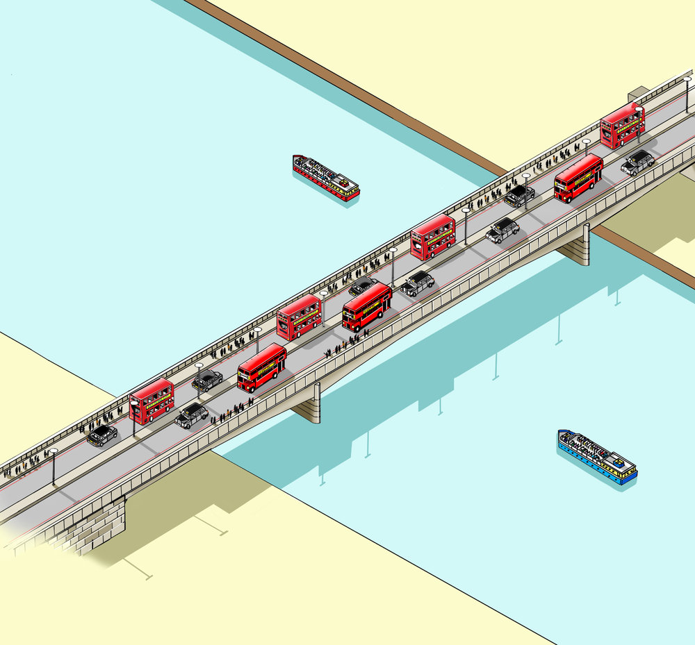 London Bridge Illustration by Katherine Baxter