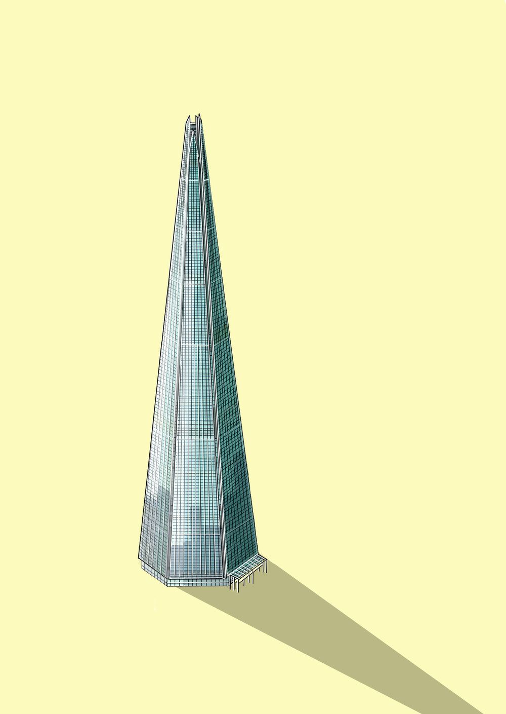 The Shard Illustration by Katherine Baxter