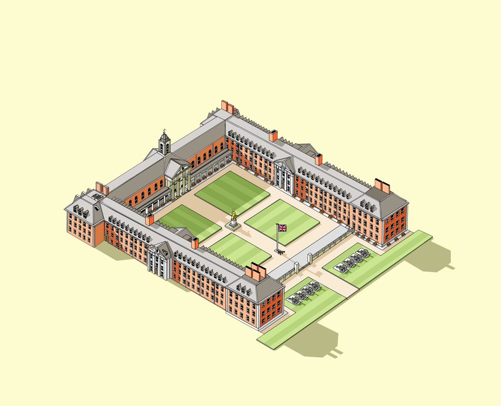 Royal Hospital Chelsea  Illustration by Katherine Baxter