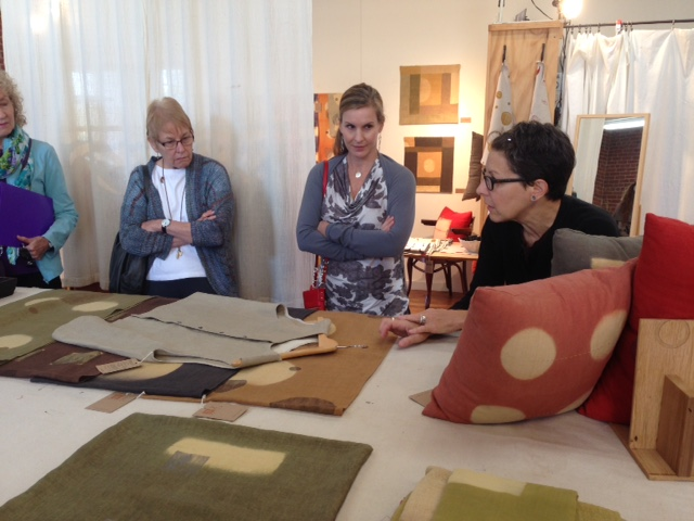 Barbara Zaretsky of Cloth Fiber Workshop describes her processes