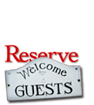 welcome guests reserve sign