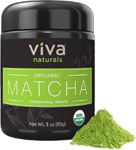 Matcha contains L-Theanine, an amino acid that helps your body to process caffeine differently and create a state of calm alertness. While one serving ofmatcha has much less caffeine than coffee, it provides a less jittery, more sustained energy boost – with no crash at the end.Matcha Green Tea powder contains a unique, potent class of antioxidant known as catechins, which aren't found in other foods. In particular, the catechin EGCg (epigallocatechin gallate) provides potent cancer-fighting properties.