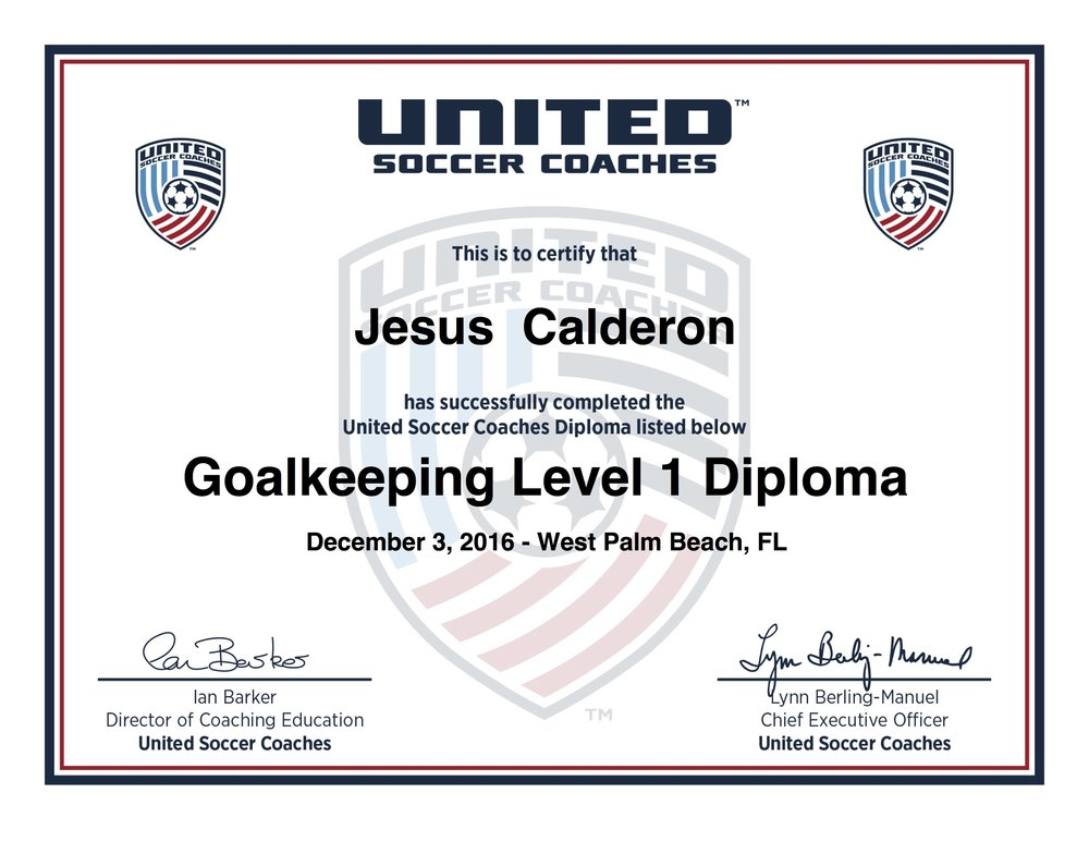 Jesus Goalkeeping Level 1 Diploma.jpg