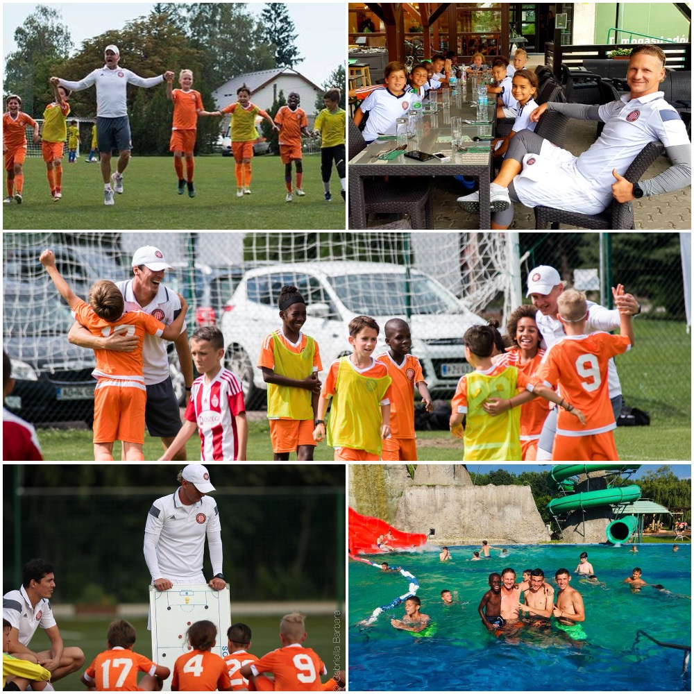 Attila and AC Miami '08 Travel team at the European Soccer Tour and Tryout
