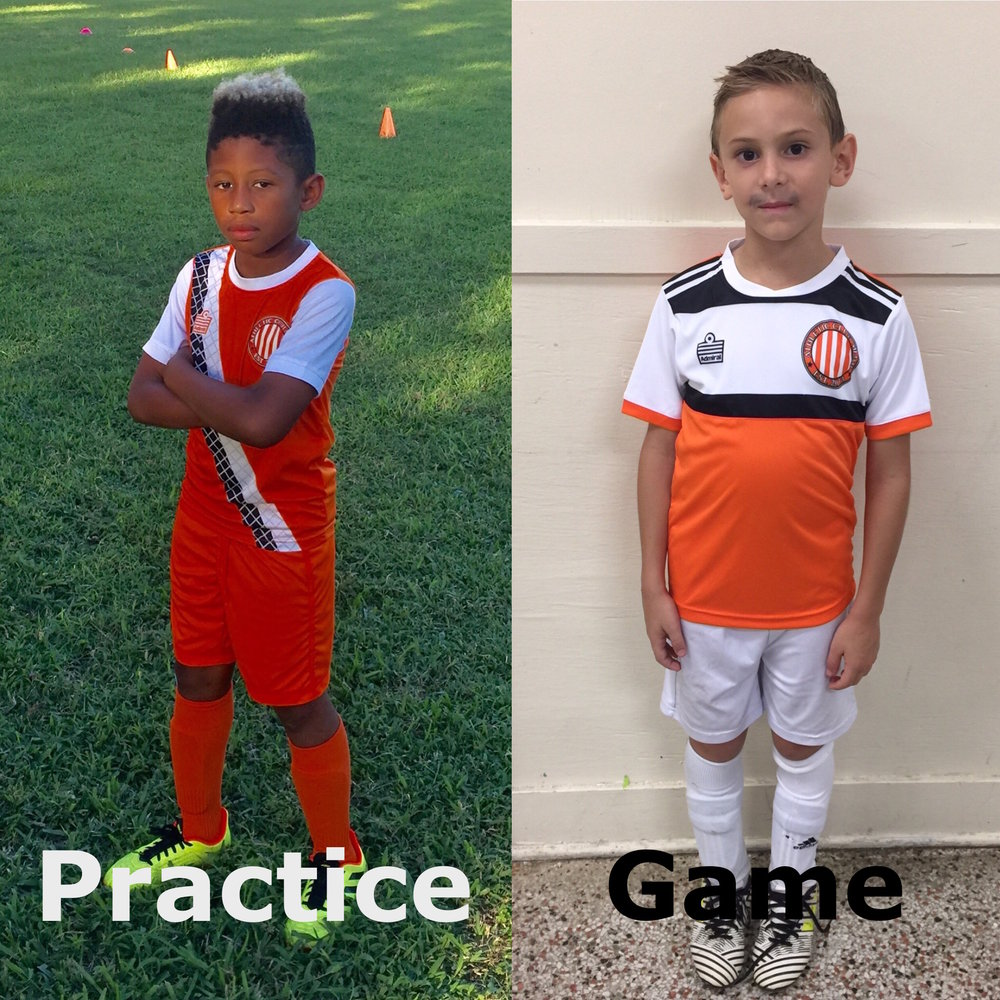Soccer Practice and Game Uniform kit
