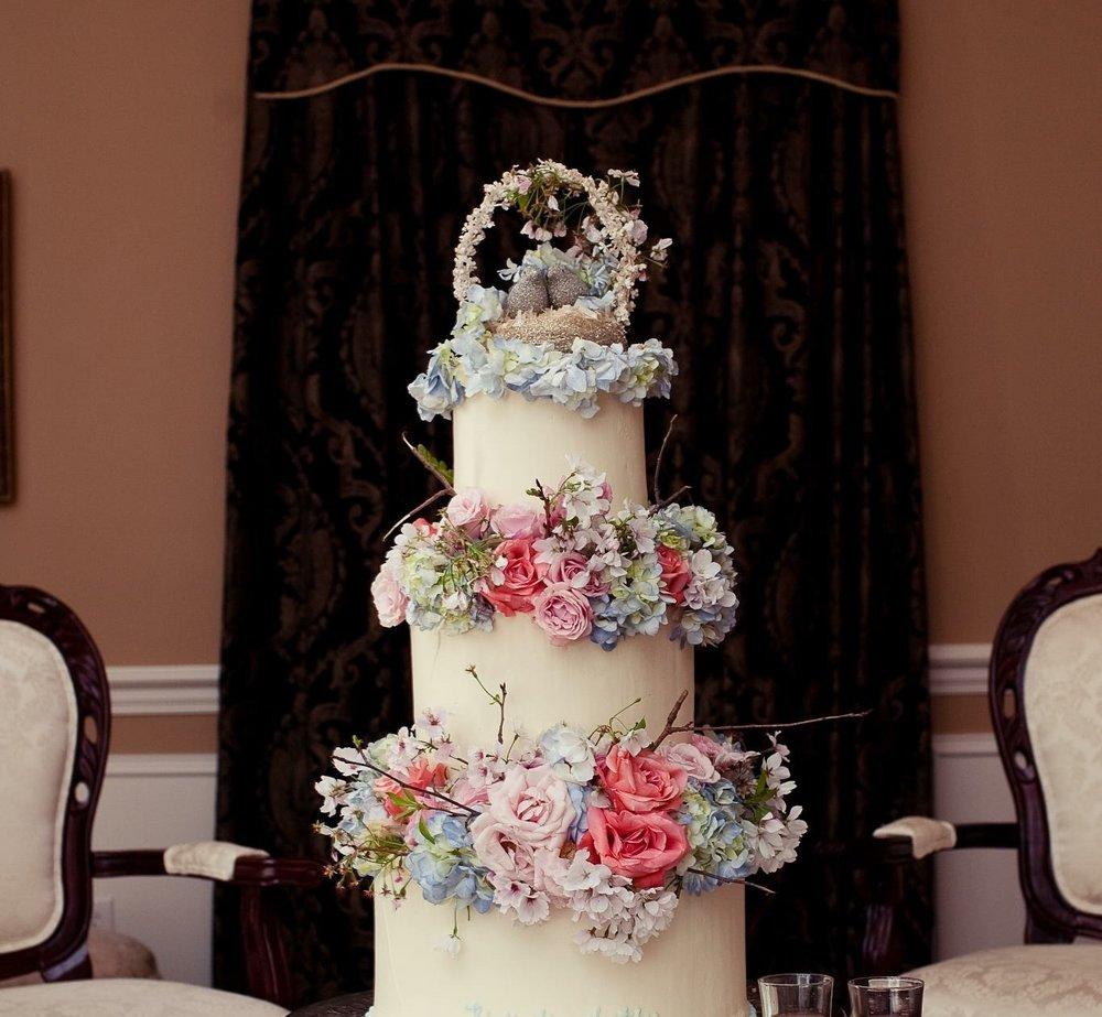 lillie jane wedding flower cake