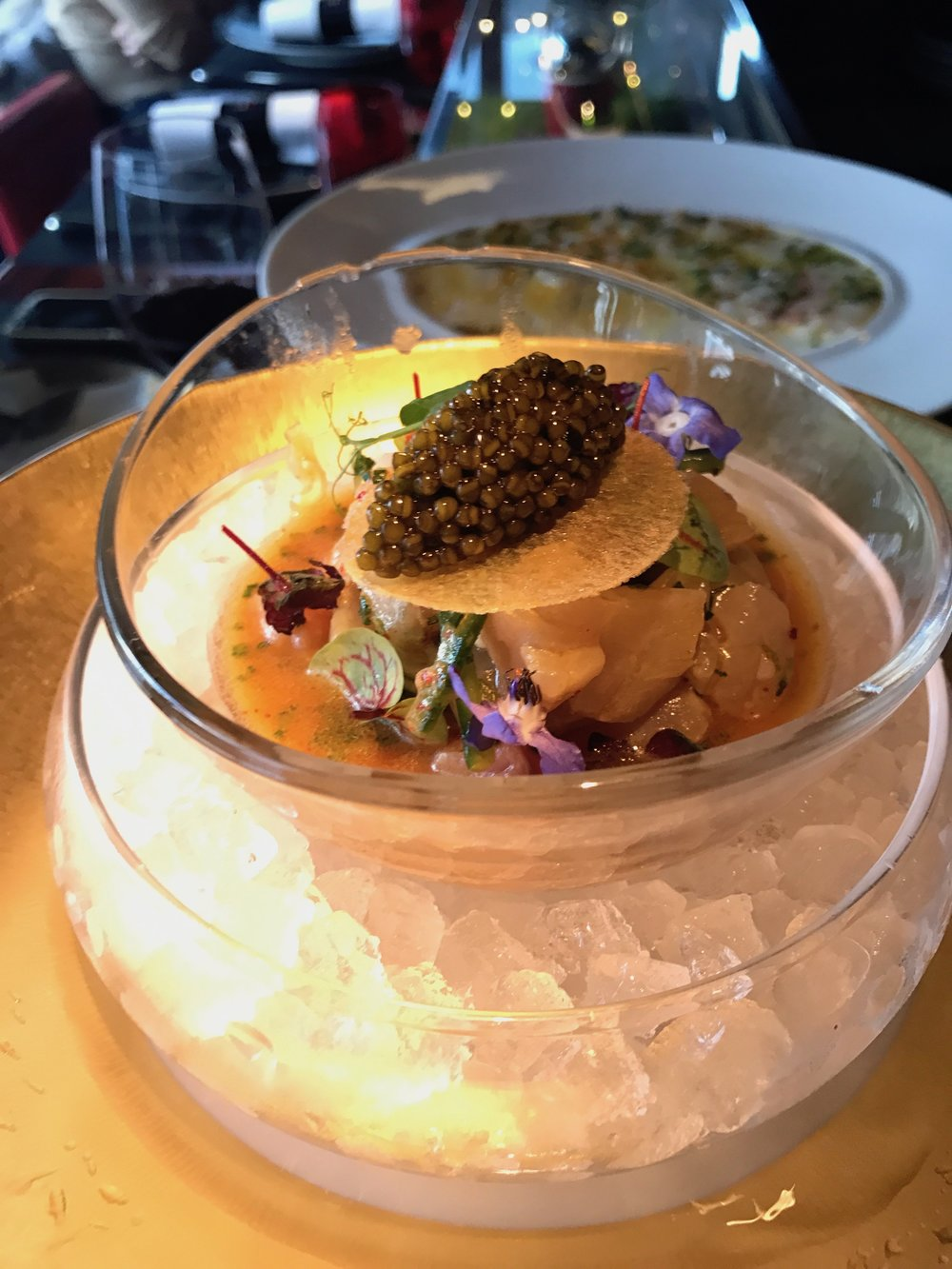 Ceviche at Robuchon