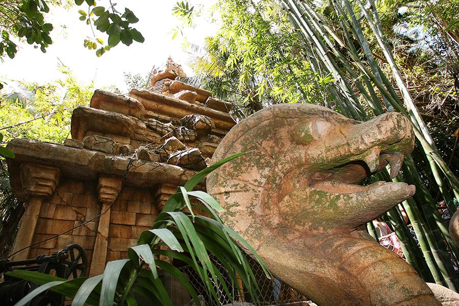 Indiana Jones Temple of the Forbidden Eye attraction in Disneyland. Image from https://disneyparks.disney.go.com