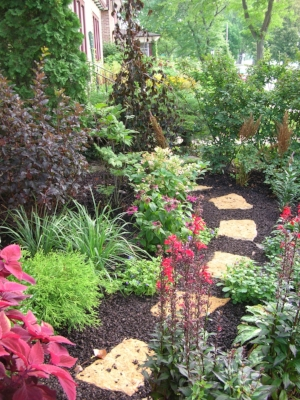 Perennial, shrub and tree Garden Bed Design by Schönheit Gardens.
