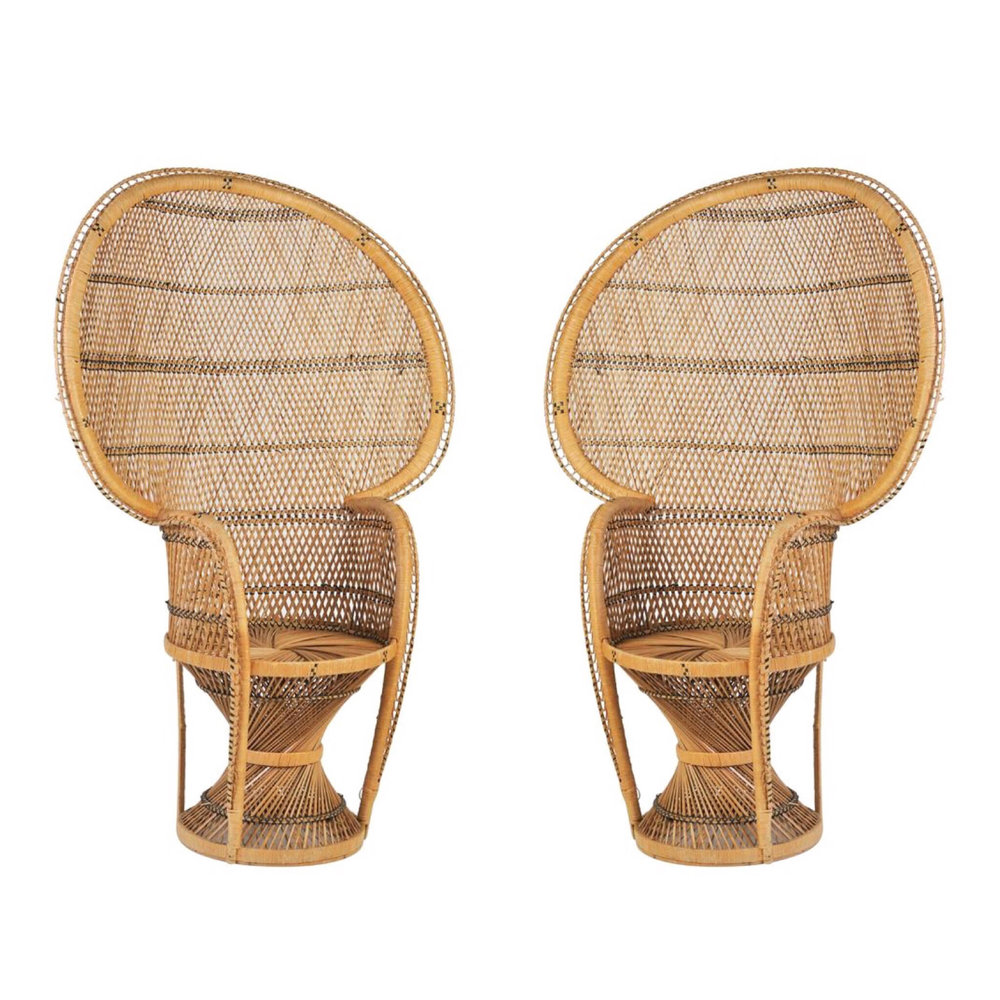 Exceptionnel Bohemian Peacock Rattan Chairs