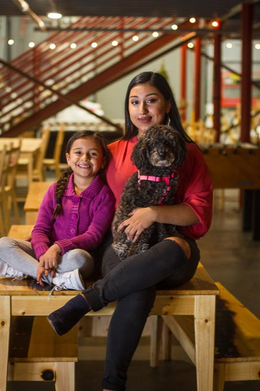 Iris, Mya, & Lola Castillo ~ Taproom Manager, Offical Youth Representative, & Aspiring Guard Dog