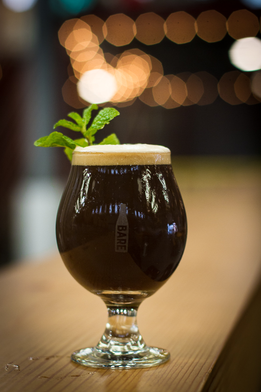 Yerba Buena ~ Mint Chocolate Porter made with local mint.  Fun fact: Yerba Buena was the old name of San Francisco