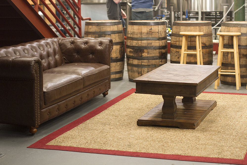 Our brewside parlor is a favorite of those looking for quiet seclusion from the hum of the taproom