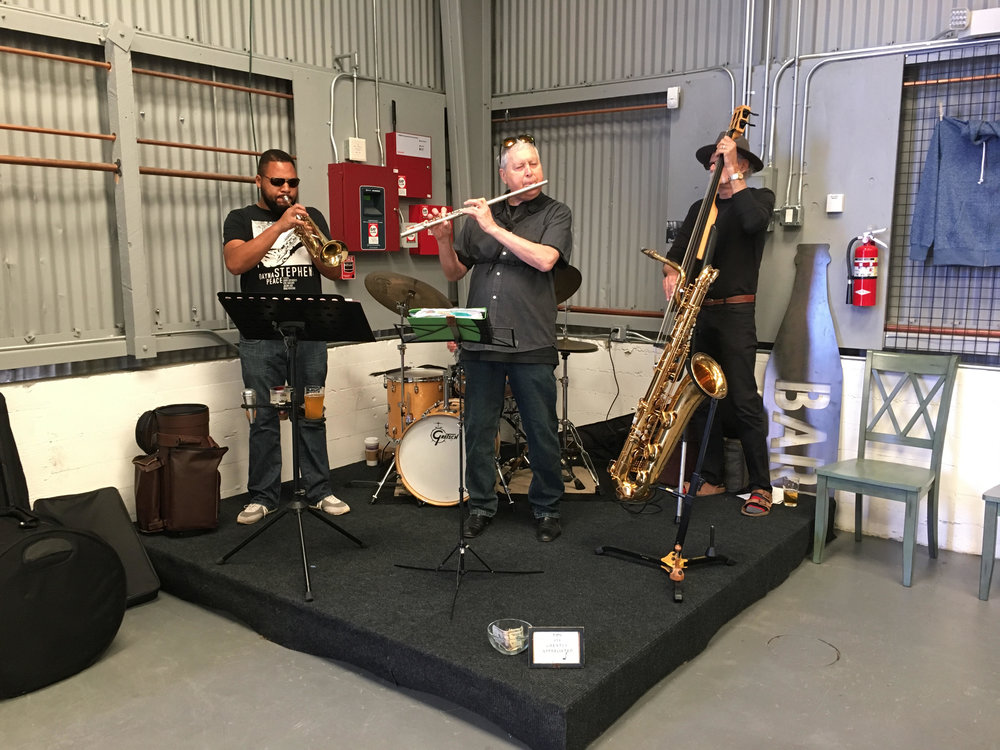 Jazz night here at our Bernal Heights Brewery.
