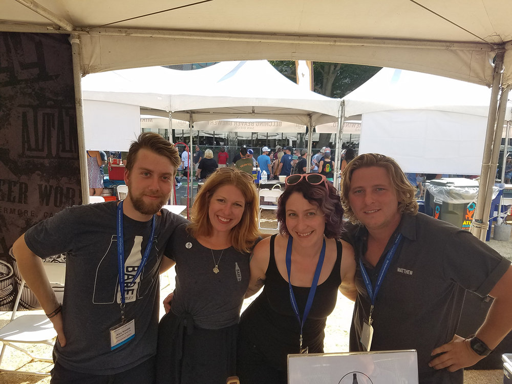 Some of the Barebottle crew at the CA Craft Beer Summit