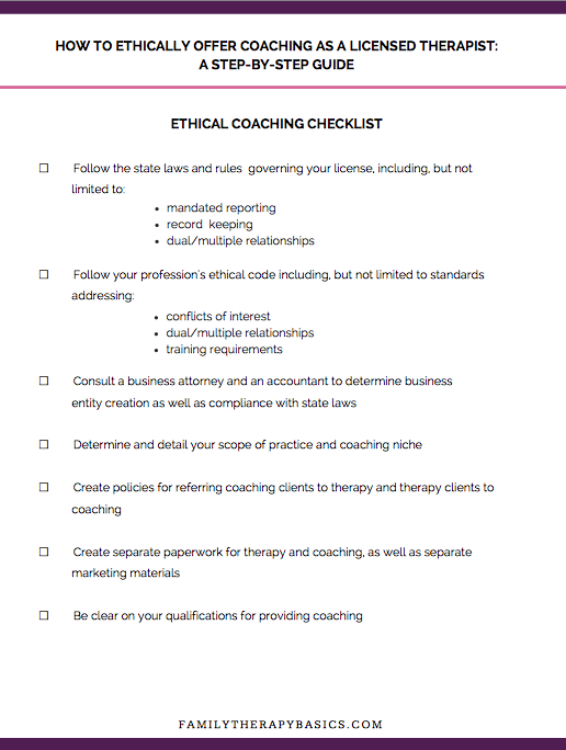The Ethical Coaching Guide