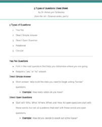 5 Question Types Cheat Sheet