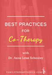 Tips on Co-Therapy, from Dr. Schooley