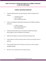 Ethical Coaching Guide + Checklist