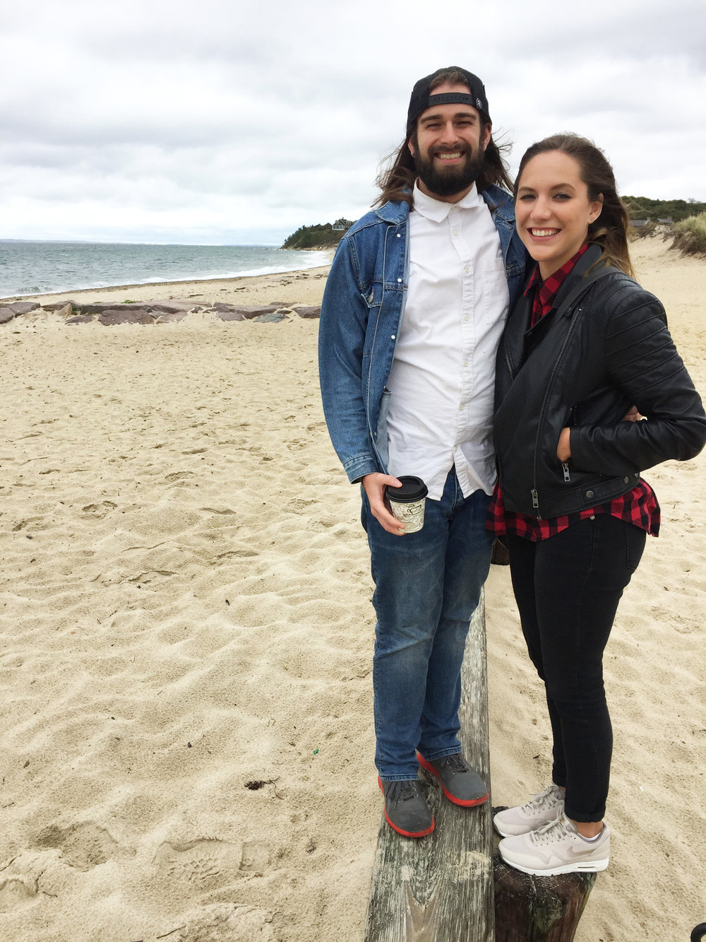 Jeremy and his girlfriend Michelle at Martha's Vineyard, Mass.
