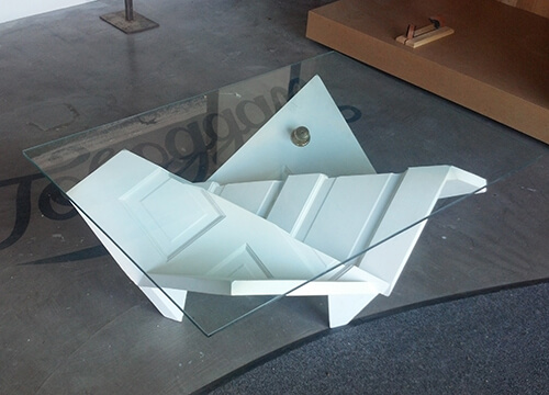 Folded door coffee table by Ryan
