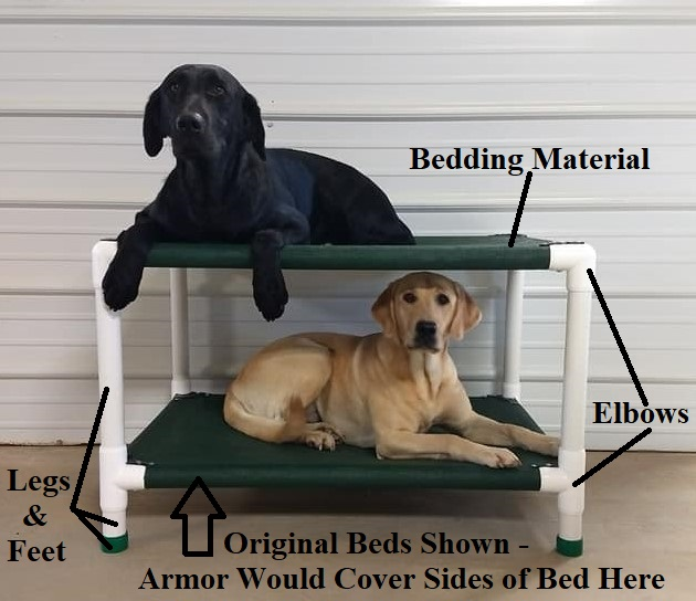 See Photos Below For Outlines on Bed Components