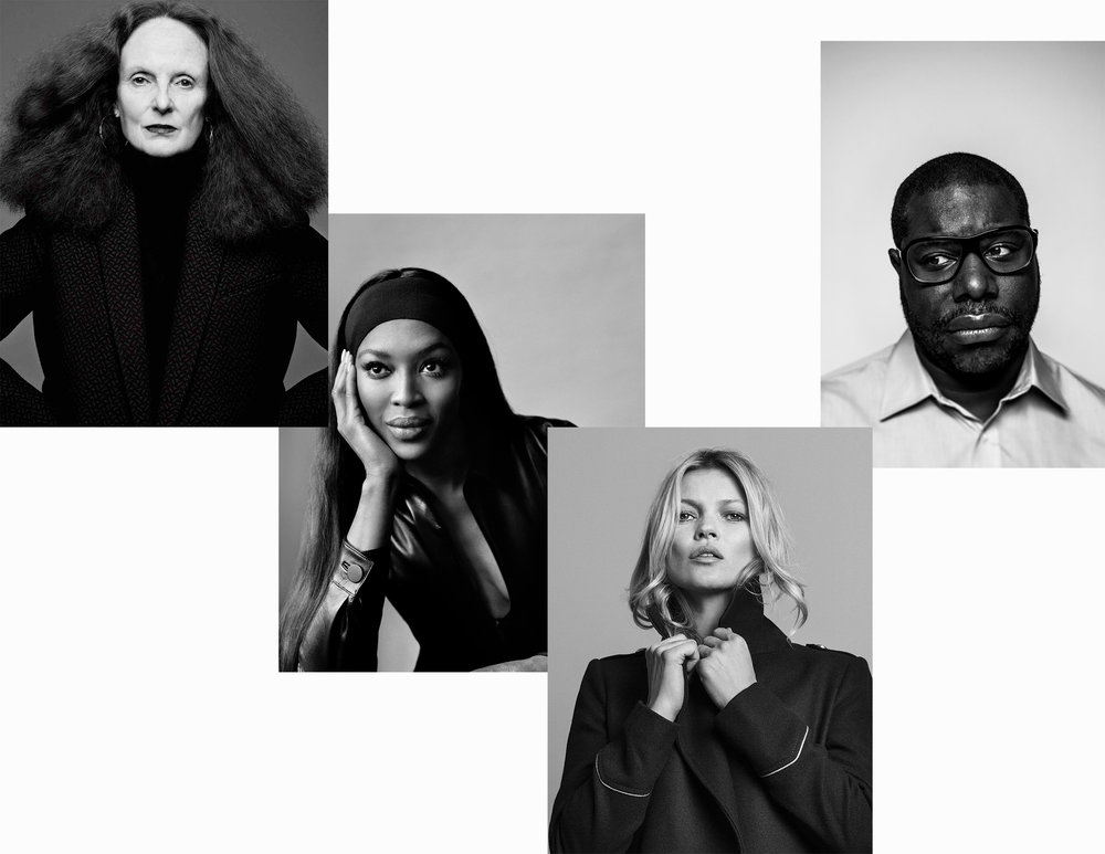 Grace Coddington, Naomi Campbell, Kate Moss and Steve McQueen.
