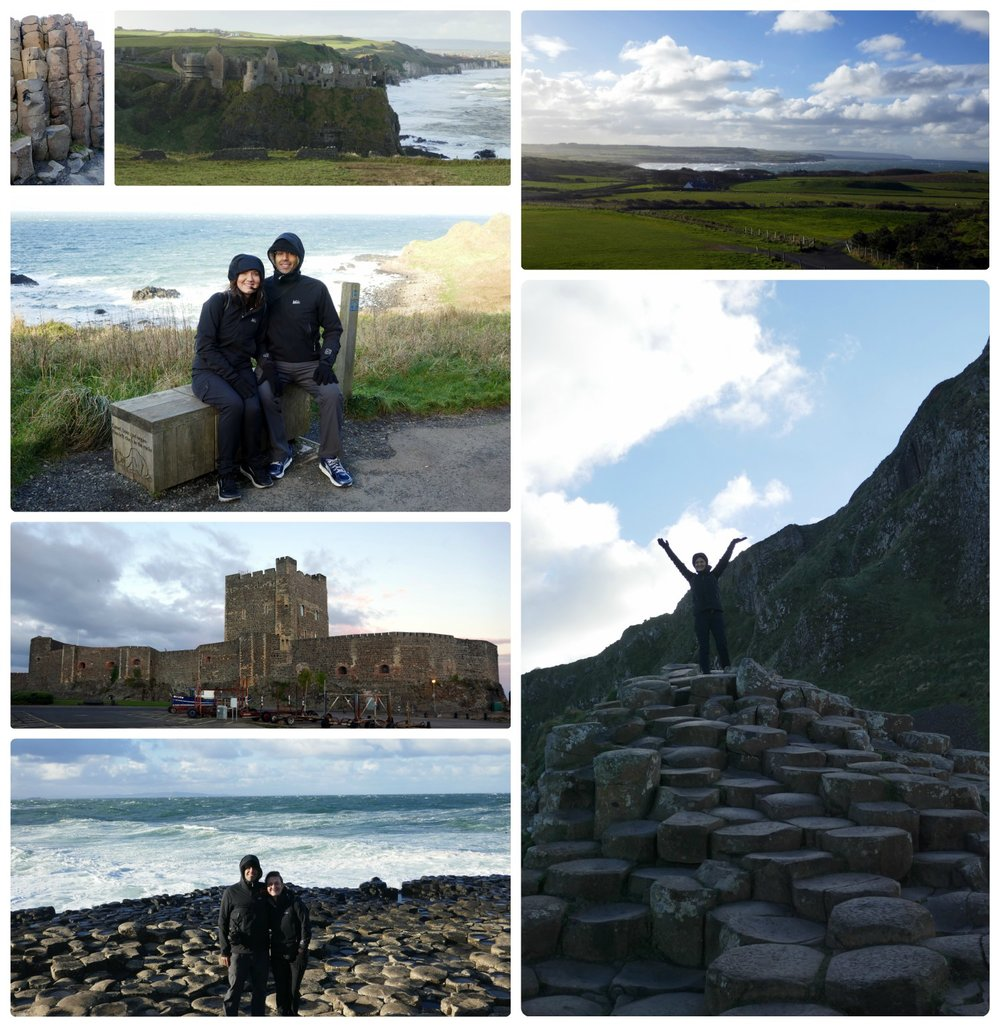 Giant's Causeway and Antrim Coast in Northern Ireland.