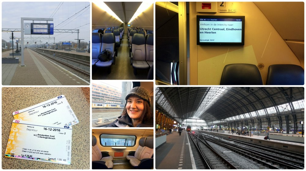 Traveling in coach by train in the Netherlands