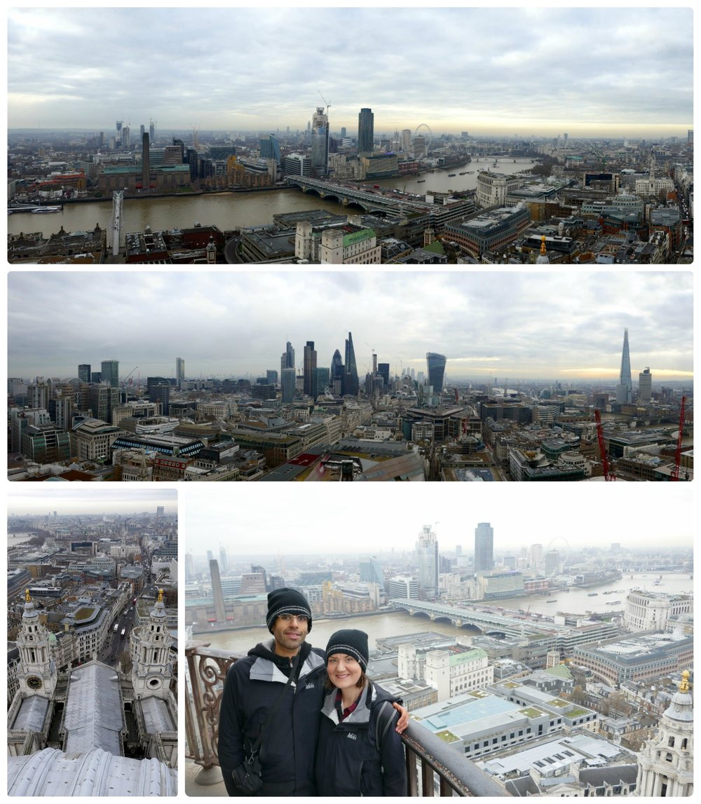 Views from the top of St Paul's Cathedral.